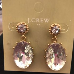 🔥NWT JCrew Big Crystal Drop Earrings🔥